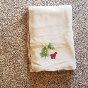 Holiday fleece blanket throw.